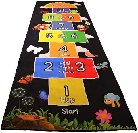 Mambu Essentials Hopscotch Rug Kids Rug for Playroom Daycare Nursery Cute Indoor or Outdoor product image