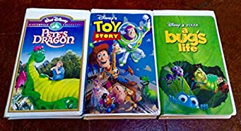 Bundle of 3 Disney VHS Video Tapes  1- Pete s Dragon 2- A Bug s Life 3- Toy Story.
