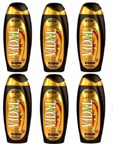 6x Vidal Argan oil Arganöl Shower gel Duschcreme Duschgel 250 ml