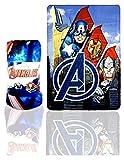 Avengers Plaid Fleece Superhelden, rot, one Size