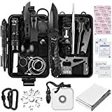 Survival Kit 24 in 1 Survival Gear, Outdoor Survival Tool Emergency for Cars Camping Hiking Hunting Survive Knife