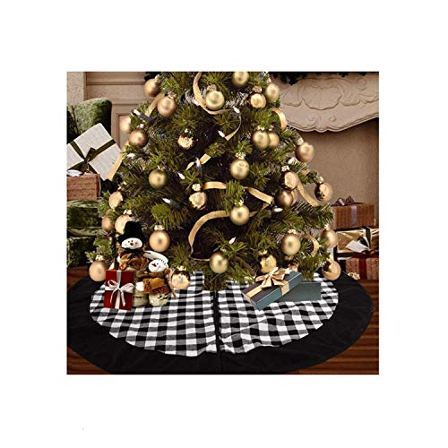 Kerstboom rok voor kerst ornament zwarte plaid kerstboom rok