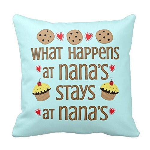 therq Lightinglife initial Pillow cover what Happens at Nana' s cuscino decorativo