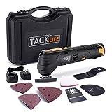 【Amazon.co.jp 限定】TACKLIFE 電気マルチツール 充電式 12V 6段変速 25pcs入り 電池残量表示 LEDライト 研磨/切断/剥がし PMT01B