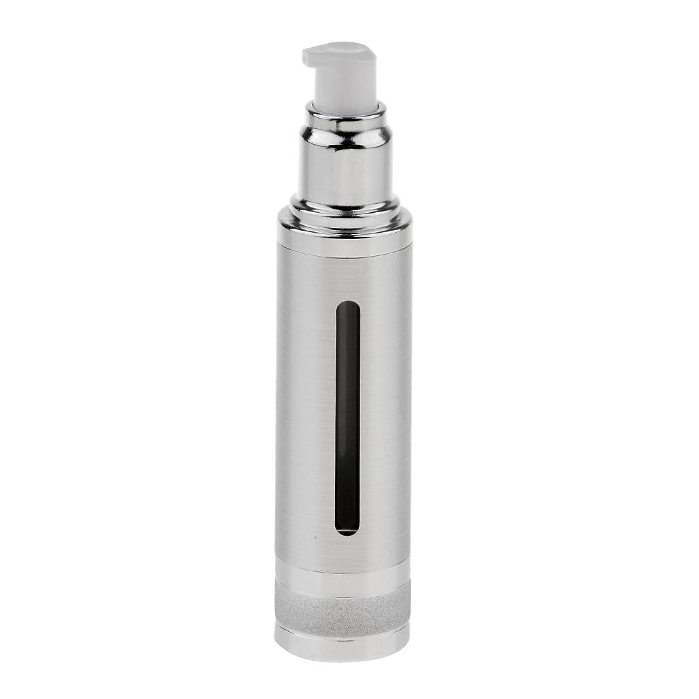 の間にごみ一定Sharplace エアレスボトル ポンプボトル 空ボトル 香水ボトル オイル DIY 詰替え 50ml 全2色 - 銀