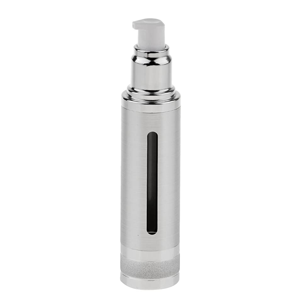 仕出しますラウズ来てSharplace エアレスボトル ポンプボトル 空ボトル 香水ボトル オイル DIY 詰替え 50ml 全2色 - 銀