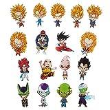 Dragon Ball 17 Fridge Magnets with Chibi Figures of Son Goku, for Muten Roshi etc