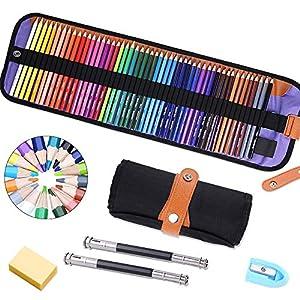 lápices de colores Pack de 50 Multicolor para Artistas,Adultos y Niños,lápices escolares de colores,Incluye 2/Extensor…