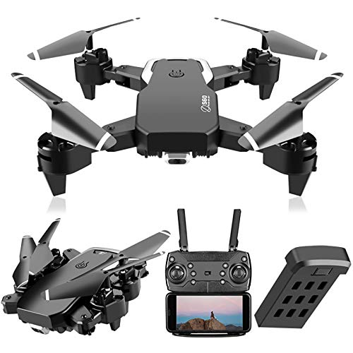 VAIPI S60 Drones with 4K HD Dual Camera for Adults, Remote Control Toys Gifts for Boys Girls with Headless Mode, Altitude Hold and Trajectory Flight Easy to Fly for Beginners