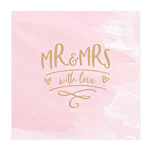 Luck and Luck Papierservietten für die Hochzeit mit engl. Aufschrift