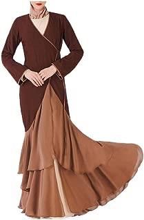 neveraway Womens Premium Classics Open Front Dubai Muslim Kaftan Maxi Dress