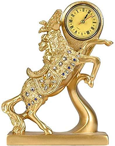 LPQA Sculpture Statue Home Accessories Clocks Horse Decoration Animal Sculpture Decoration Home Office Decoration Birthday Gift