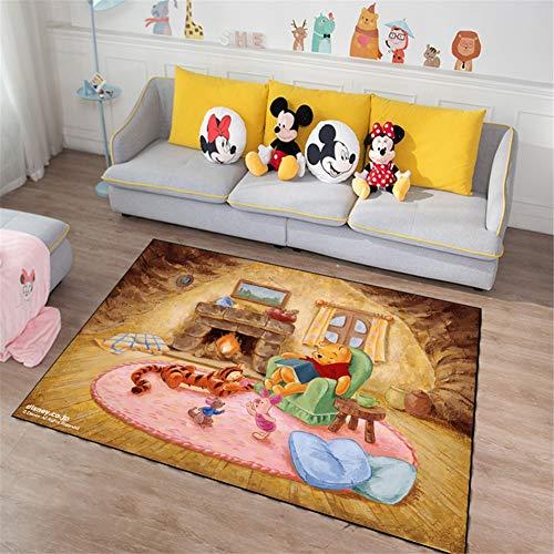 QALLP Home Alfombras Salon Moderna Grande Dibujos Animados De Winnie The Pooh De Pelo Corto Antifouling Antideslizante Suave Protectora Durable Alfombra para Interior Estera de Yoga 60x160cm D4228
