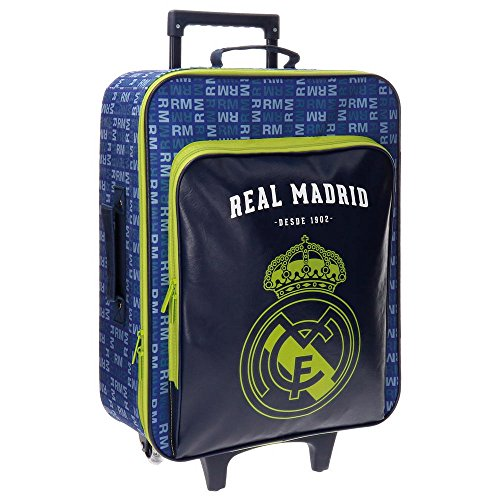 Real Madrid 5649052 Basic Equipaje Infantil, 52 cm, 26 litros, Multicolor