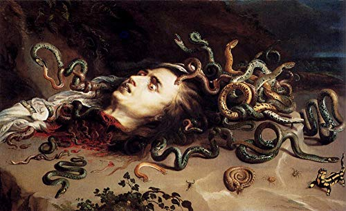$50-$2000 Hand Painted by College Teachers - 3 Famous Paintings - Head of Medusa Baroque Peter Paul Rubens Snakes - Handmade Art Oil Painting on Canvas -04