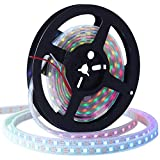 CHINLY 5m WS2812B Luz de tira de LED individualmente direccionable 5050 RGB SMD 300 píxeles Color de sueño Impermeable IP67...
