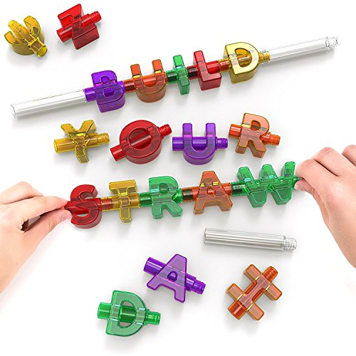Product Image of the Spelly Straws Interactive Straw, 12.5 x 2.7 x 18.5 cm, Multi-Colour