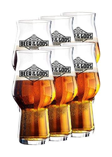 Wacken Brauerei - Vaso de Cerveza Craftmaster One - Beer of The Gods - para Cerveza Artesanal - 6 Vasos