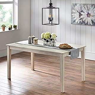 Simple Living Olin Dining Table Antique White