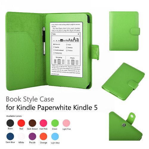 Elsse Premium Case For Amazon Kindle Paperwhite (Support Smart Cover Function) (Paperwhite, Green)