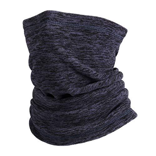Wmcaps Braga Cuello Hombre,Calentador de Polainas para el Cuello, mascarilla Protectora de vellón Sombreros multifuncionales para Exteriores para Hombres y Mujeres (Azul Real)