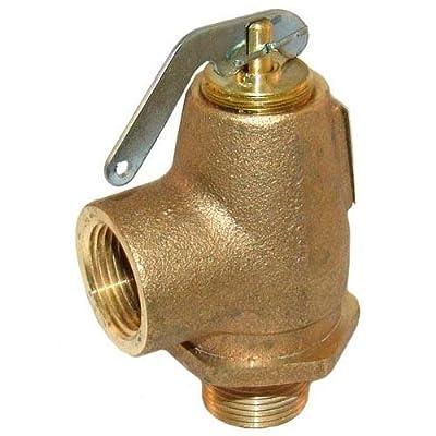 "Generic 561356 Steam Safety Valve Pressure Relief Brass 3/4"" Npt 25 Psi 485 Lb/Hr from Generic"