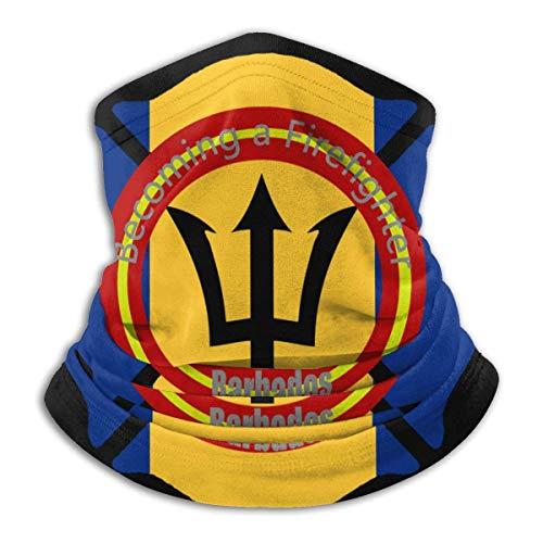 Convertirse En Una Bandera De Barbados Bombero Unisex Bufanda Deportiva A Prueba De Viento Calentador De Cuello Al Aire Libre Bandana Pasamontañas Sombreros