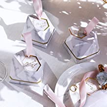 Diamond Style Marble Candy Box Wedding Favors Gifts Party Supplies Baby Shower Paper Gift Chocolate Boxes (50PCS)