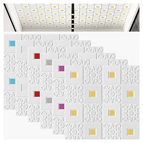 Ann 70x70cm 3D Selbst-Adhesive Wallpaper Anti-kollision Stereo Wandaufkleber Wasserdicht Wohnzimmer Schlafzimmer Dekoration TV Wand Weichen Tasche Hintergrund Wand Aufkleber