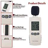 Medidor de decibelios de mano, nivel de ruido de 30 a 130 dB, para uso en...