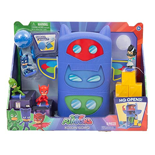 Giochi Pj Masks Playset Quartier Generale Apribile con Mini Personaggi e Accessori