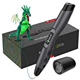 TECBOSS 3D Pen, SL300 Intelligent 3D Printing Pen with LED Display,USB Charging, 8 Speed Printing&Temperature Control, Simple Handled 3D Printer Pen for Your Kids, Interesting Gifts for All Age