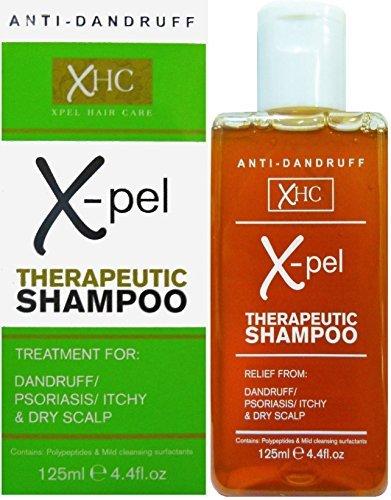 X-pel Champú terapéutico para tratamiento anticaspa, psoriasis, cuero cabelludo seco y con picor, envase de 125ml