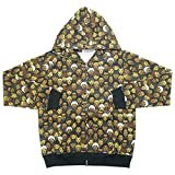 A BATHING APE ア ベイシング エイプ ×EXILE iD 10SS EXILEオールキャラ総柄ジップパーカー 黒 S