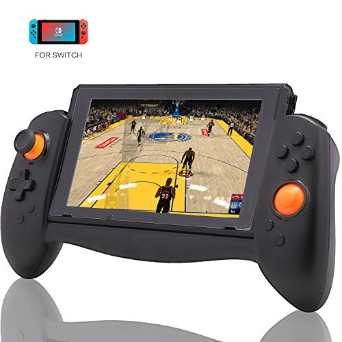 Controller for Nintendo Switch, Ergonomic Controller for Nintendo Switch with Gravity Induction of Six-Axis Gyroscope, Double Motor Vibration and Screen Capture Button