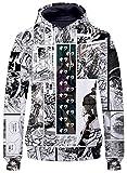 YOYOSHome Anime JoJo's Bizarre Adventure Hoodie Sweatshirt Jacket Costume Sweater Fleeces
