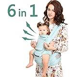 Windsleeping Porta bebés 6 en 1 con sillita ergonómica para todas las...