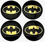 4Pcs Batman Logo Car Rims Cover Wheel Center caps hub caps Emblem Sticker 56mm