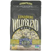 Lundberg Wild Blend, 16 Ounce (Pack of 6), Gourmet Wild and Whole Grain Brown Rice Blend