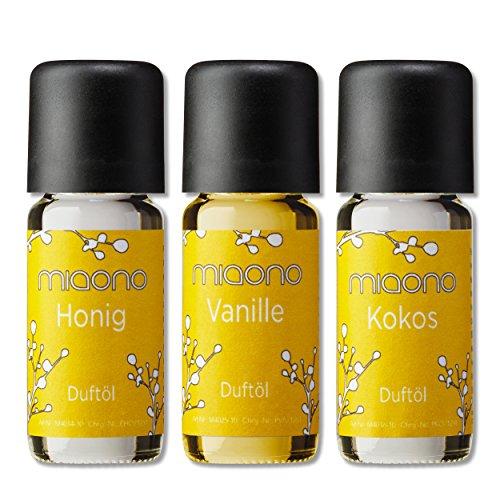 Duftöl Set - So Sweet- feiner Raumduft - Kokosnuss, Vanille, Honig - Aromaöl für Duftlampe und Diffuser von miaono
