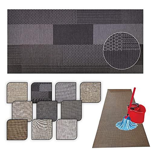 Tappeto passatoia cucina LAVABILE Lucy - antimacchia e ANTISCIVOLO aderisce perfettamente a terra non piega si pulisce con straccio - tappeti casa moderno (50X450, 50)