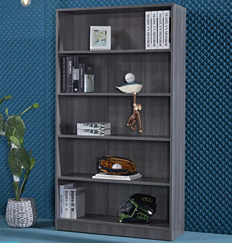 Tribesigns Bookshelf Bookcase, Industrial 10-Open Shelf Etagere Bookcase with Rustic Finish, Rustic Vintage Book Shelves Display Shelf Storage Organizer for Home Office (Rustic)