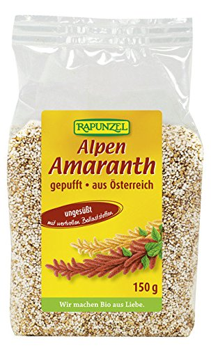Alpen Amaranth, gepufft - 4er Pack (4 x 150g) - Bio