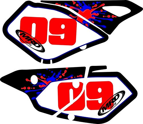 This fits a Suzuki DRZ400 MRD Exhaust Number Plate Backgrounds 400sm drz400sm Drz Graphics