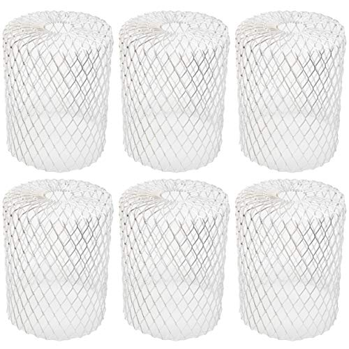 Gutter Guard [6 Pack] Leaf Filter Gutter Strainer & Downspout Guard - Better Than Roof Gutter Screen - Mesh Leaf Guards with Up to 4in Diameter - Gutter Drain Cover & Gutter Down Spout Rain Protector