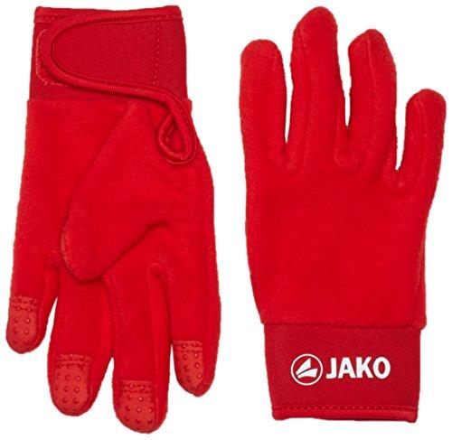 JAKO Guantes de Jugador de Campo - Rojo, 40