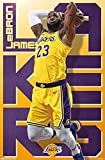 Close Up Lebron James Poster Los Angeles Lakers (56,8cm x