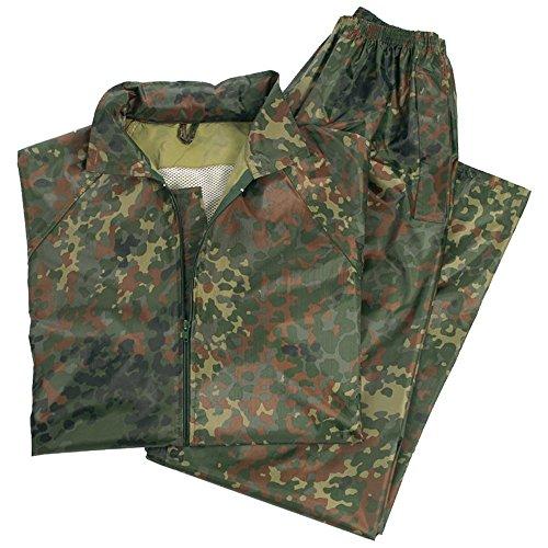 Pantaloni impermeabili e felpa camufaje - M