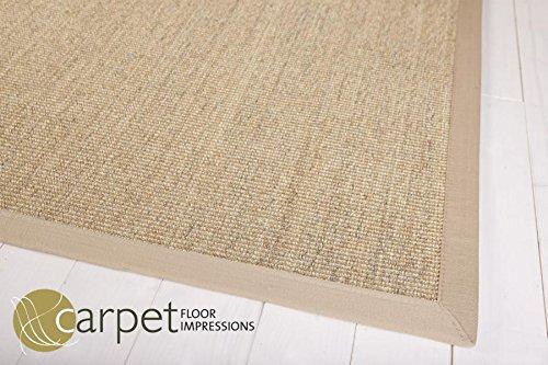 Taracarpet Sisal Küchen Teppich Mexico (050006 meliert Bodüre Natur,(12) 200X200 cm)