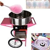 TryESeller 1300W Macchina Zucchero Filato Professionale Cotton Candy Machine con carrello Sugar Candy Floss Maker